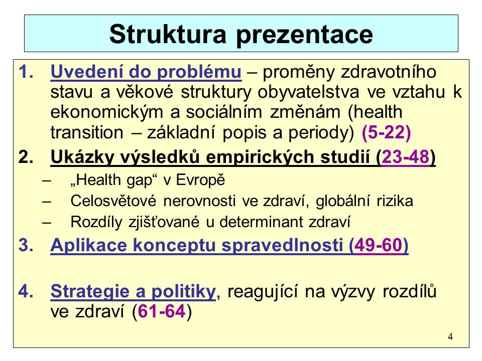 Struktura prezentace