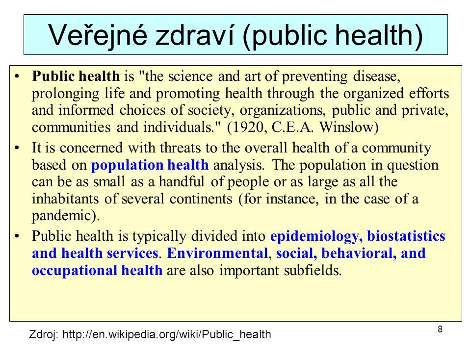 Veřejné zdraví (public health)