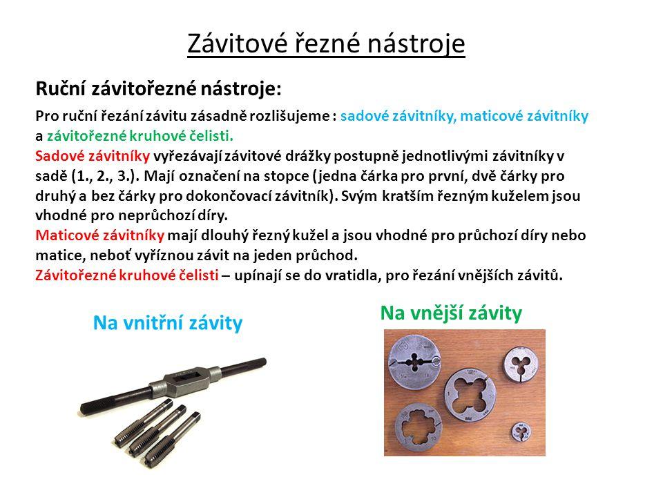 Závitové řezné nástroje