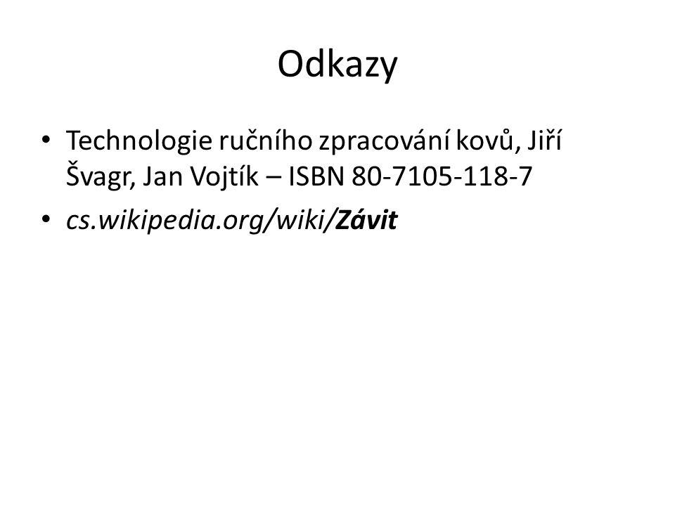 Odkazy Technologie ručního zpracování kovů, Jiří Švagr, Jan Vojtík – ISBN 80-7105-118-7.
