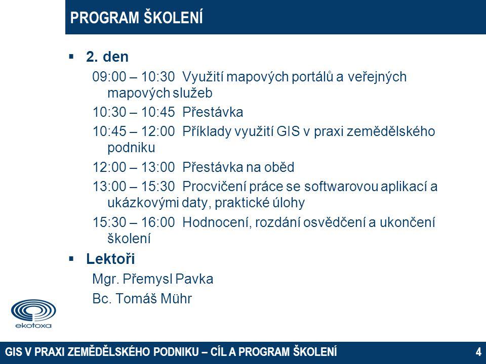 PROGRAM ŠKOLENÍ 2. den Lektoři