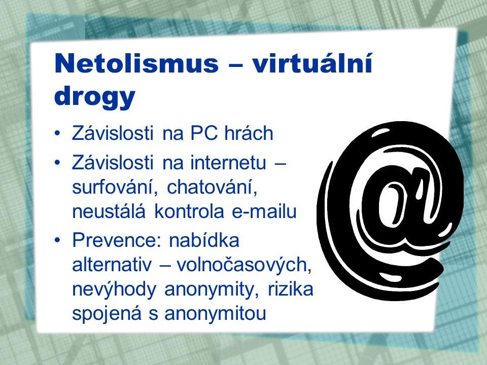 Netolismus – virtuální drogy