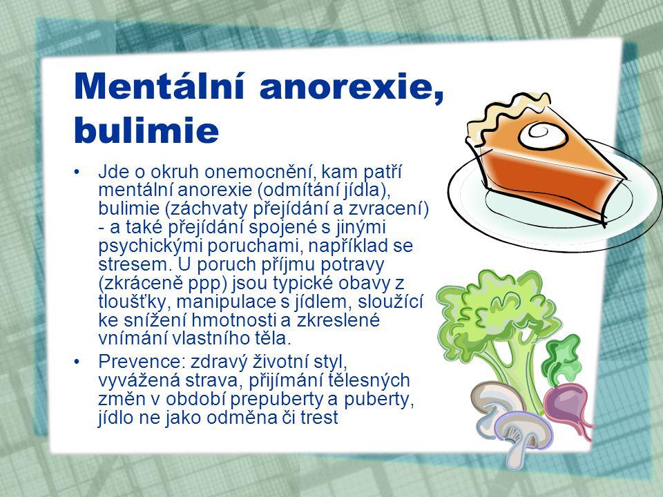 Mentální anorexie, bulimie