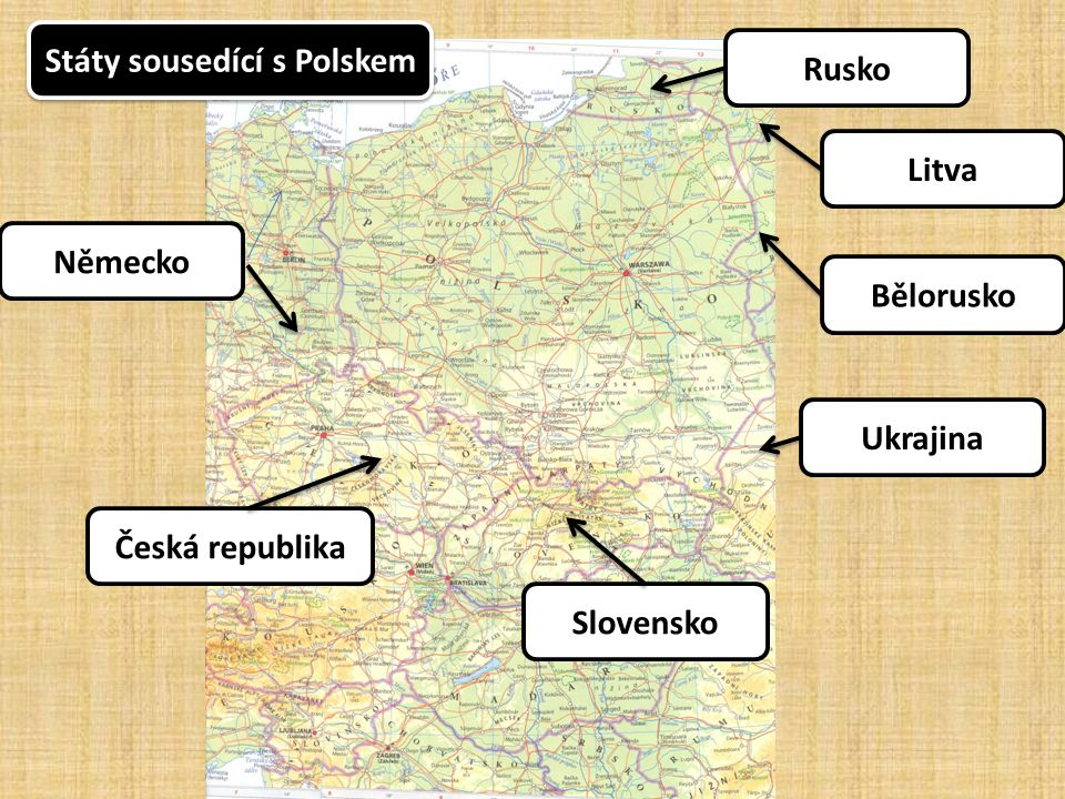 Státy sousedící s Polskem