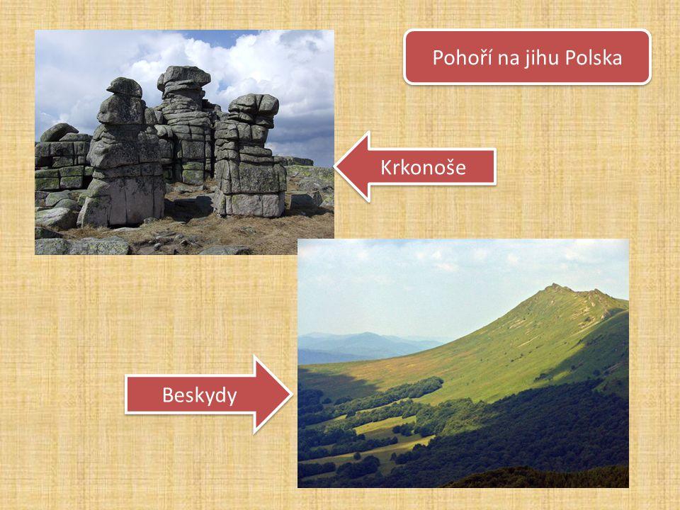 Pohoří na jihu Polska Krkonoše Beskydy