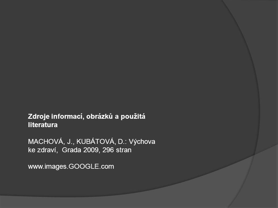 Zdroje informací, obrázků a použitá literatura