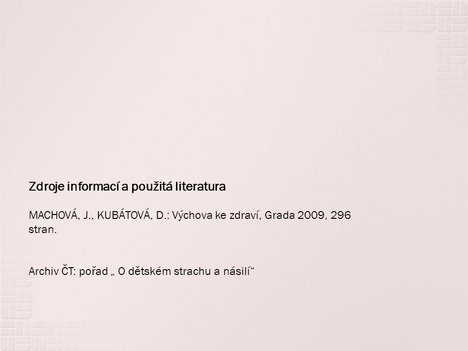 Zdroje informací a použitá literatura