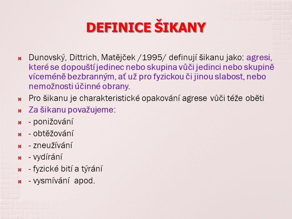 DEFINICE ŠIKANY