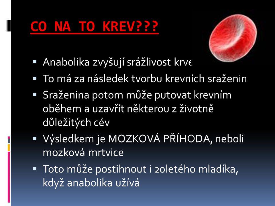 CO NA TO KREV Anabolika zvyšují srážlivost krve