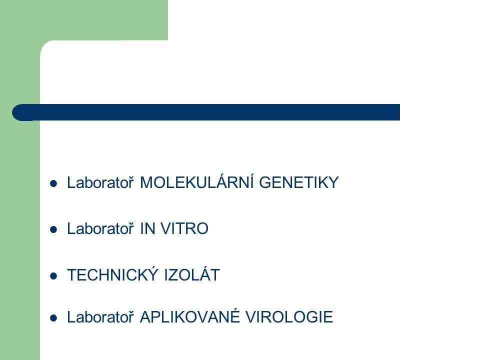 Laboratoř MOLEKULÁRNÍ GENETIKY