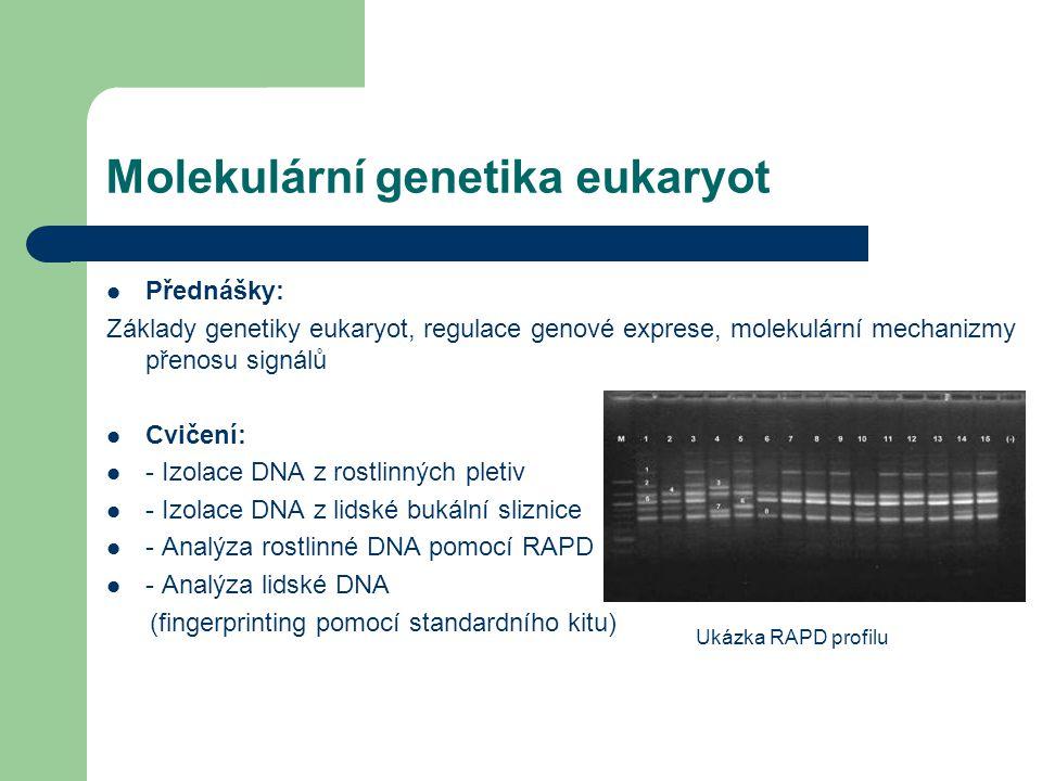 Molekulární genetika eukaryot