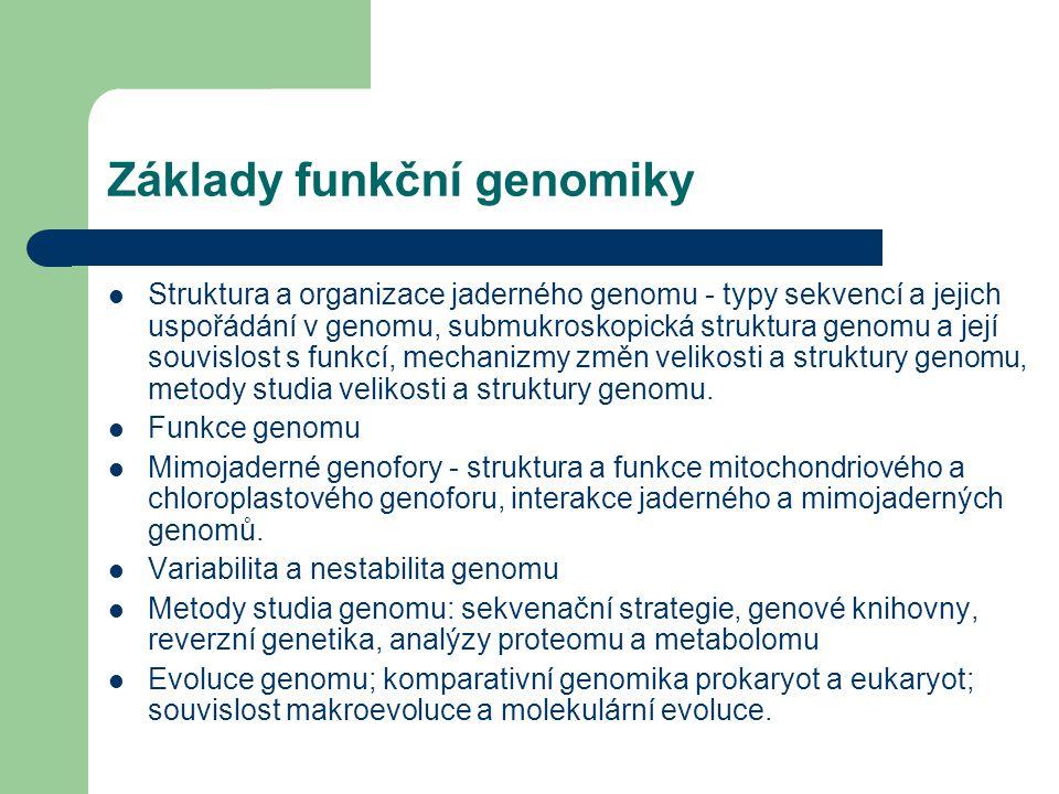 Základy funkční genomiky