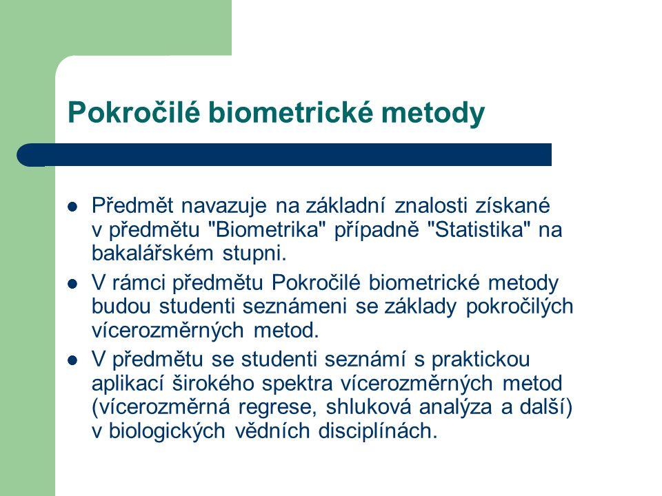 Pokročilé biometrické metody
