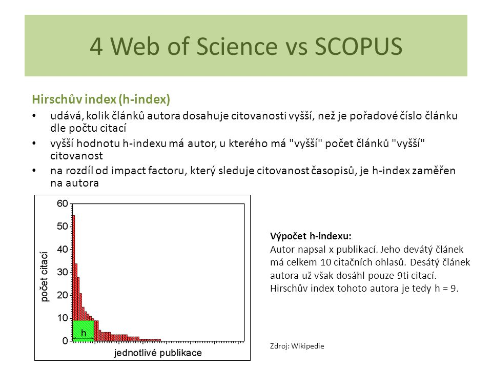 4 Web of Science vs SCOPUS