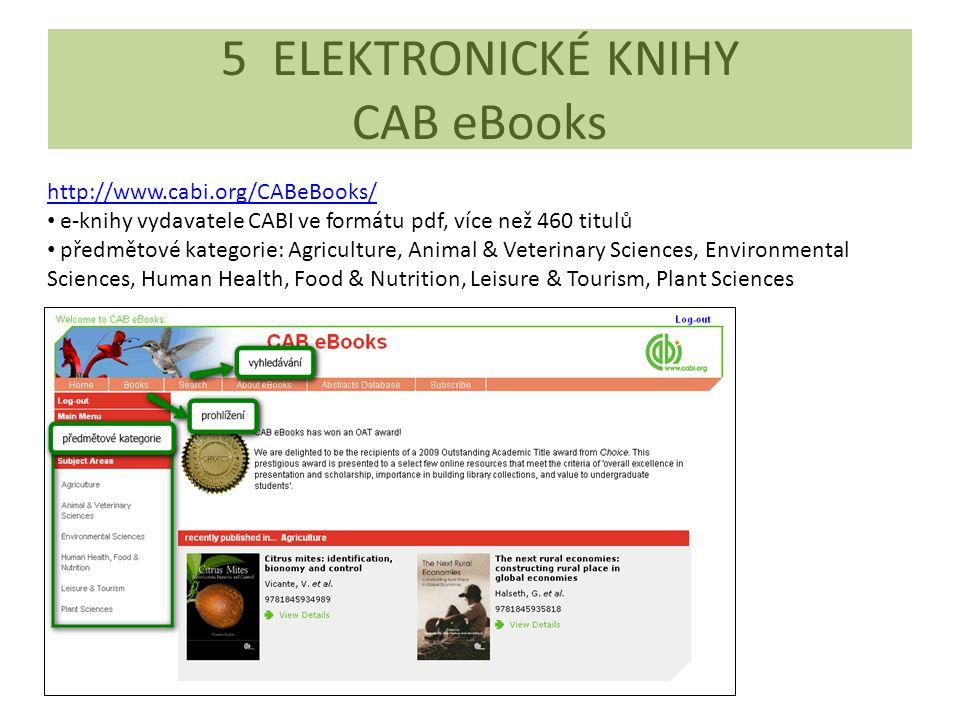 5 ELEKTRONICKÉ KNIHY CAB eBooks