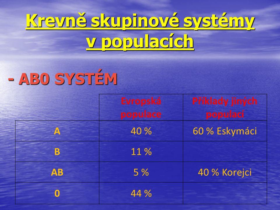Krevně skupinové systémy v populacích