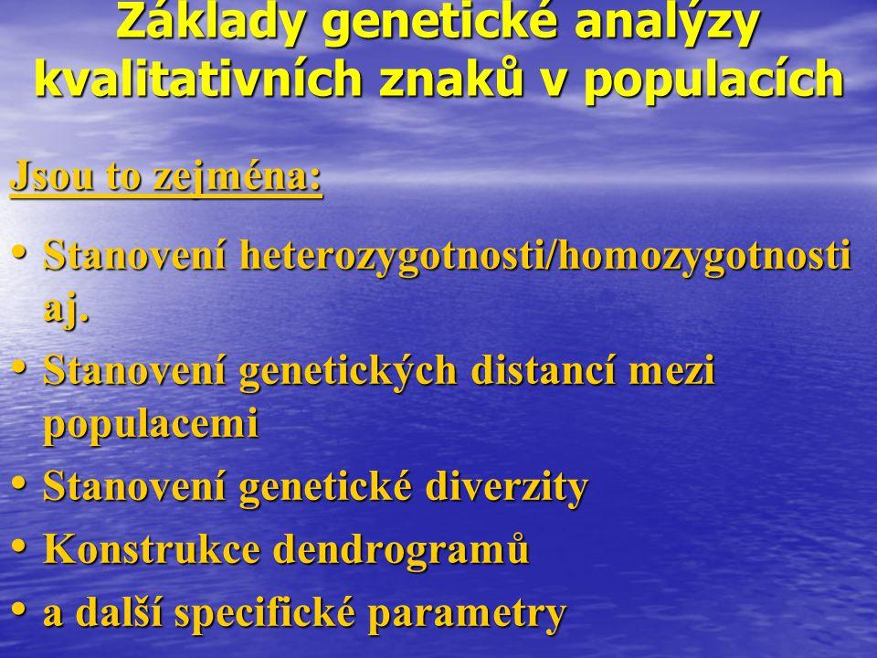Základy genetické analýzy kvalitativních znaků v populacích