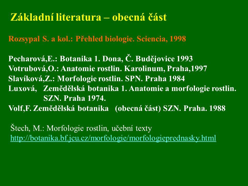 Základní literatura – obecná část