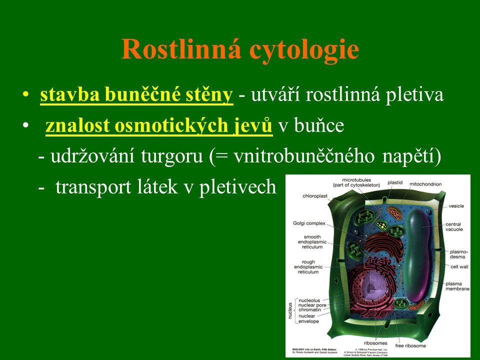 Rostlinná cytologie stavba buněčné stěny - utváří rostlinná pletiva