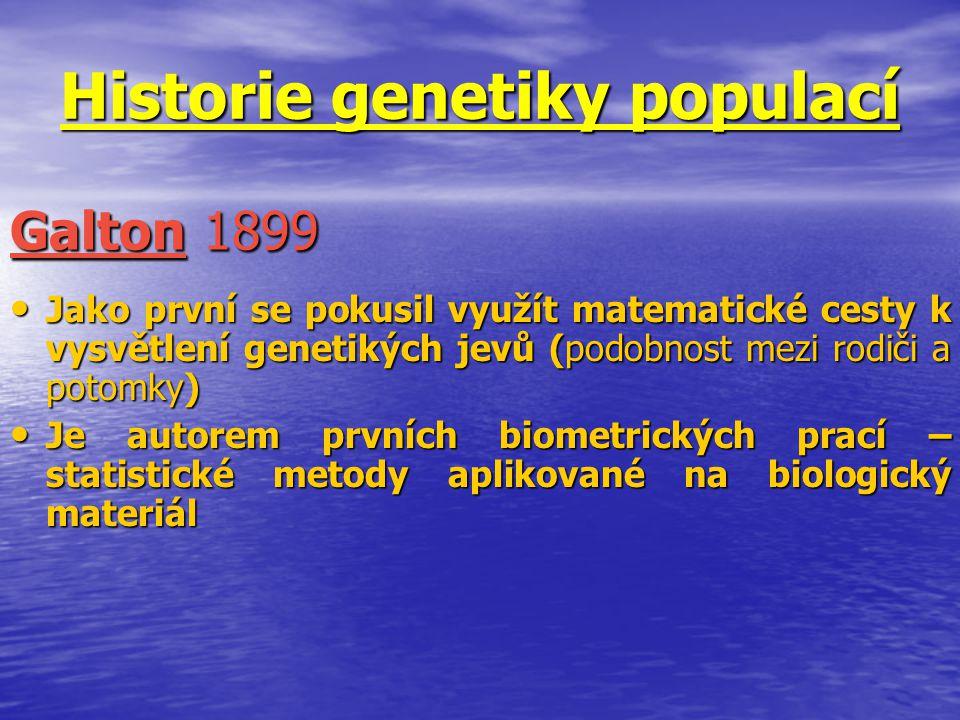 Historie genetiky populací