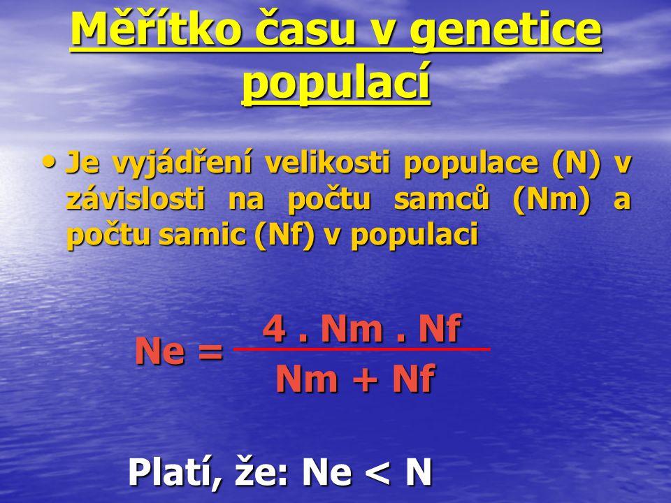 Měřítko času v genetice populací