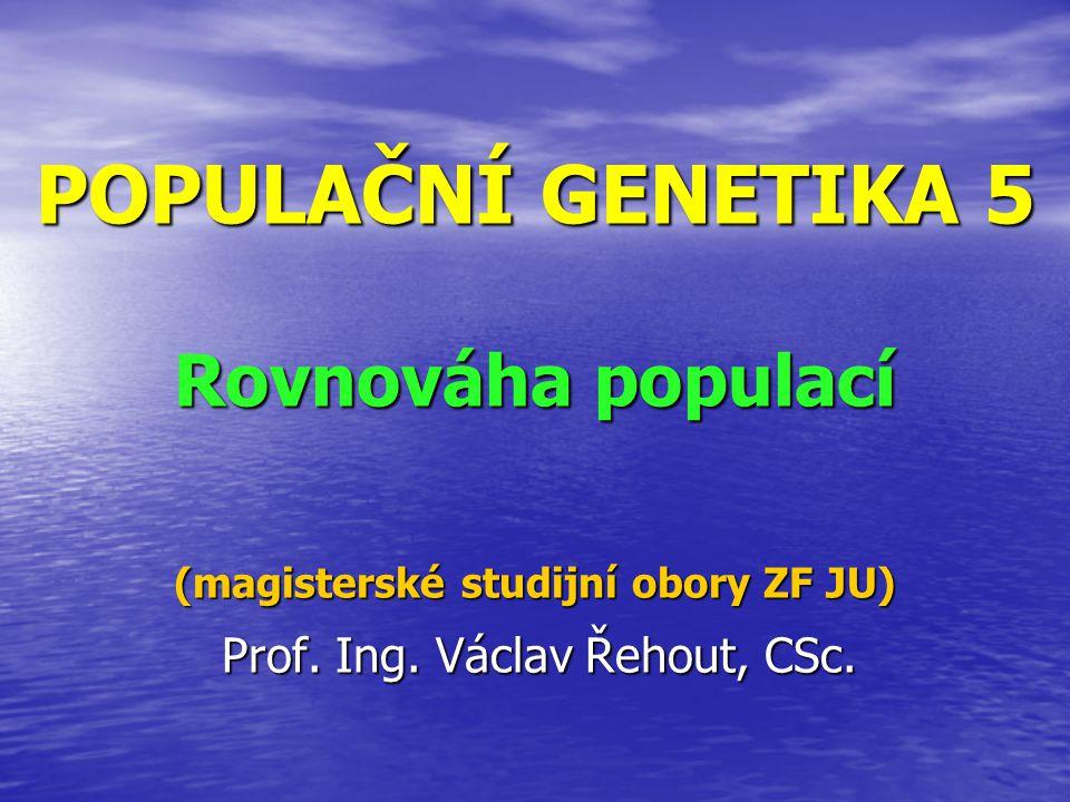 Prof. Ing. Václav Řehout, CSc.