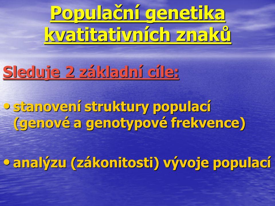 Populační genetika kvatitativních znaků