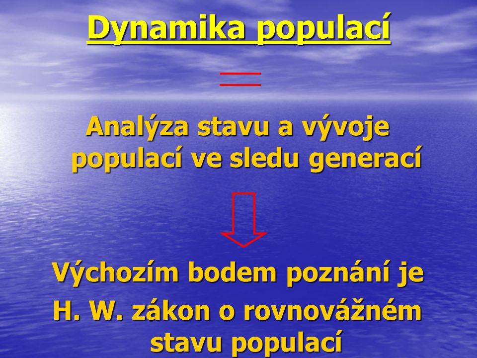Dynamika populací Analýza stavu a vývoje populací ve sledu generací