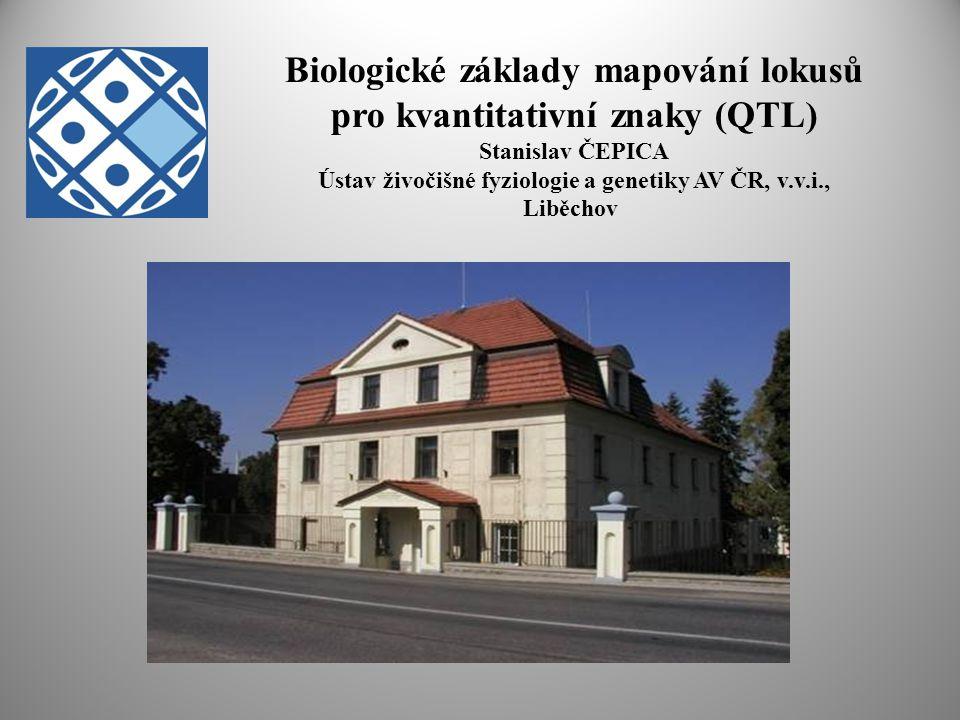 Biologické základy mapování lokusů pro kvantitativní znaky (QTL) Stanislav ČEPICA Ústav živočišné fyziologie a genetiky AV ČR, v.v.i., Liběchov