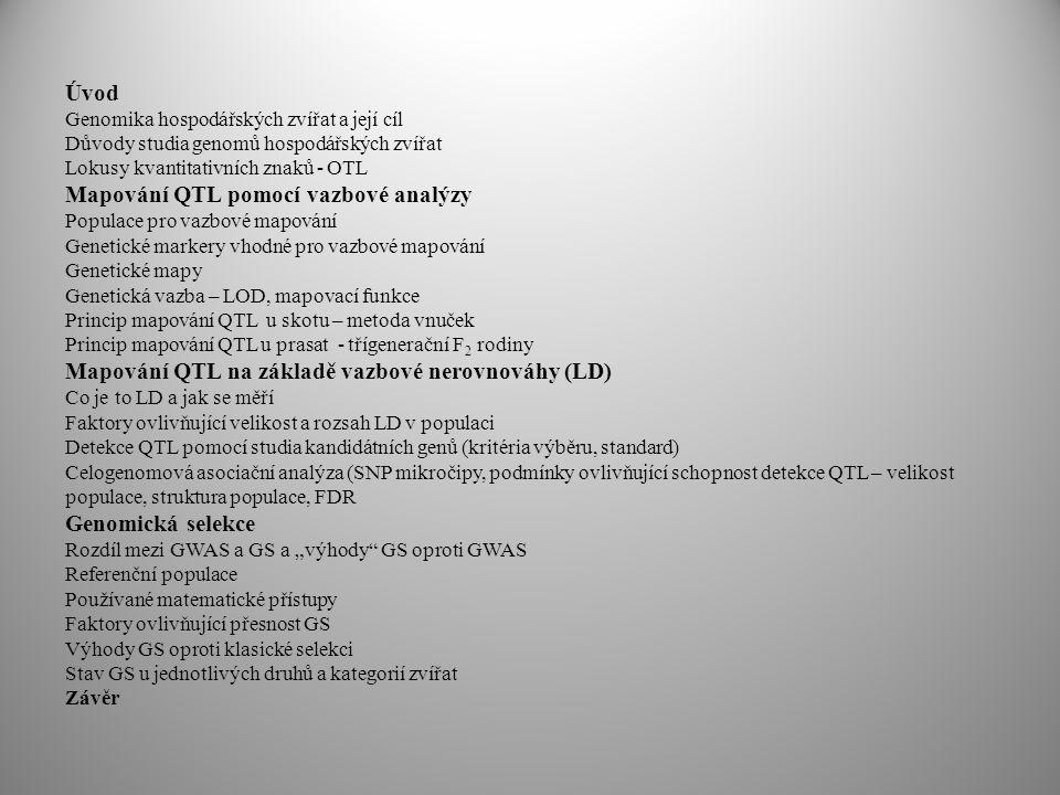Mapování QTL pomocí vazbové analýzy