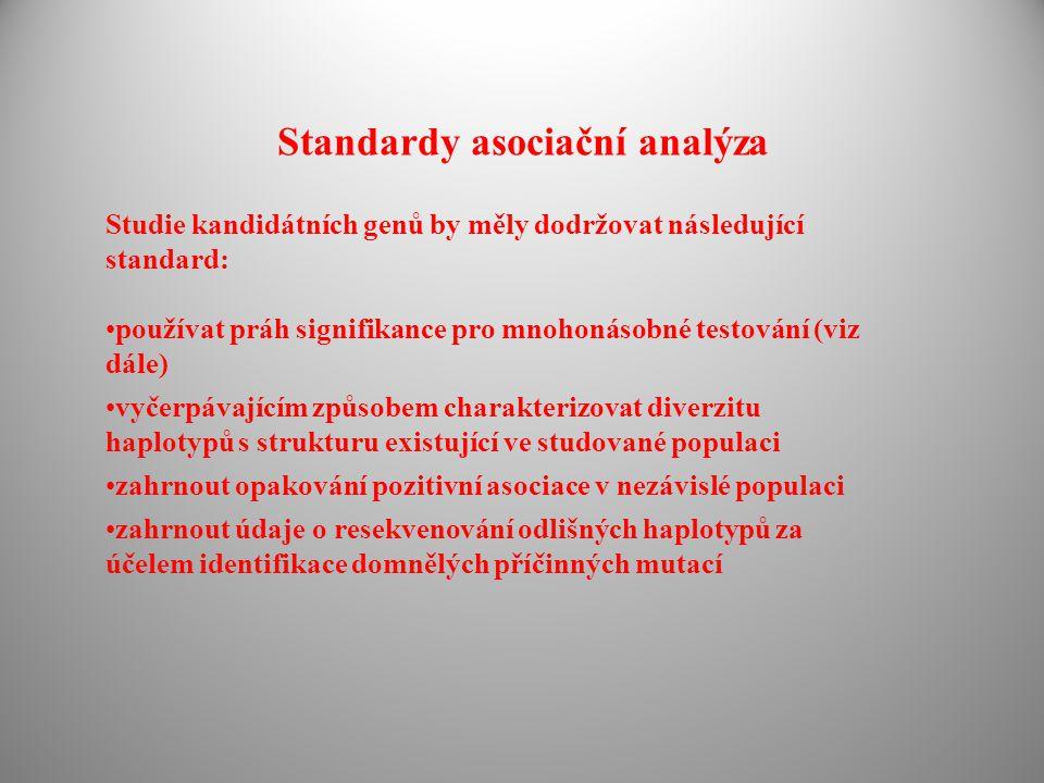 Standardy asociační analýza