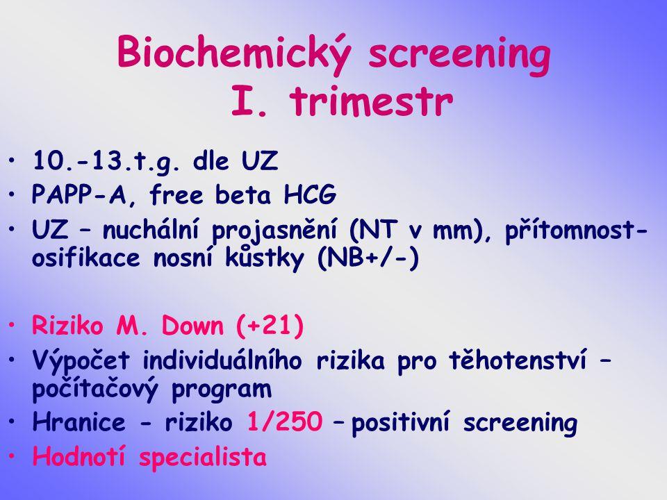 Biochemický screening I. trimestr