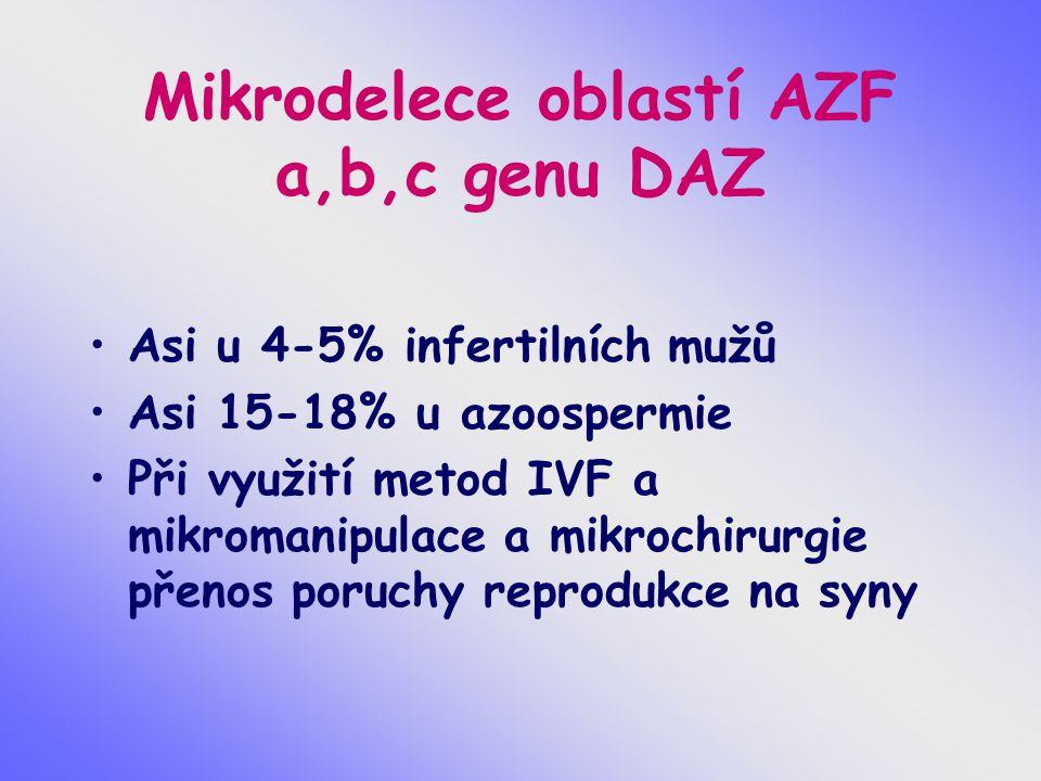 Mikrodelece oblastí AZF a,b,c genu DAZ