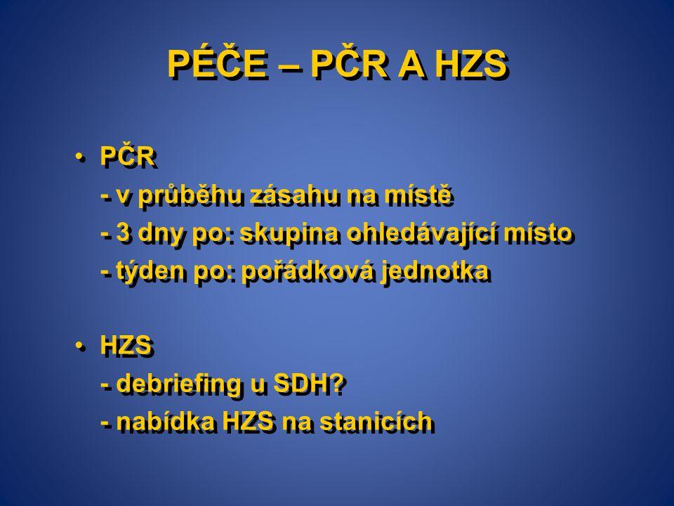 PÉČE – PČR A HZS PČR - v průběhu zásahu na místě