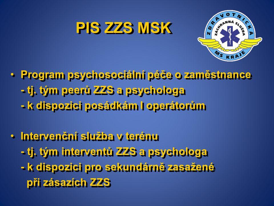 PIS ZZS MSK Program psychosociální péče o zaměstnance