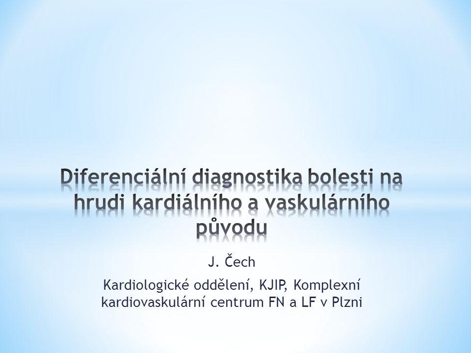 Diferenciální diagnostika bolesti na hrudi kardiálního a vaskulárního původu