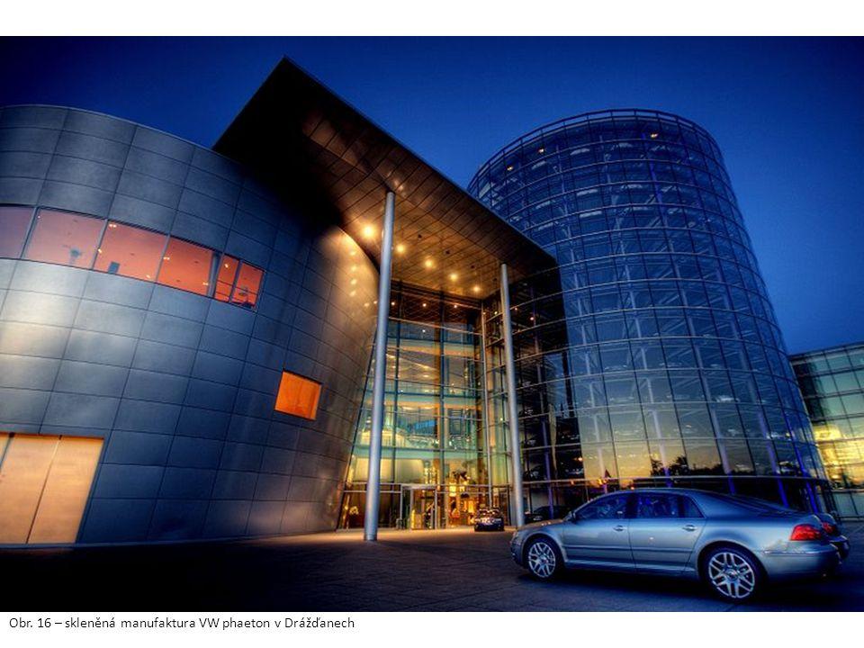 Obr. 16 – skleněná manufaktura VW phaeton v Drážďanech