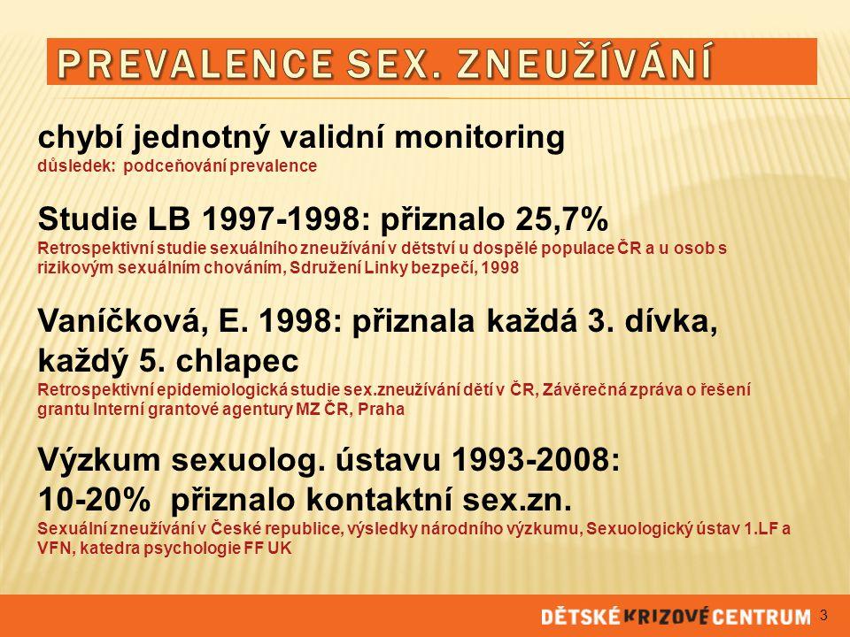Prevalence sex. zneužívání