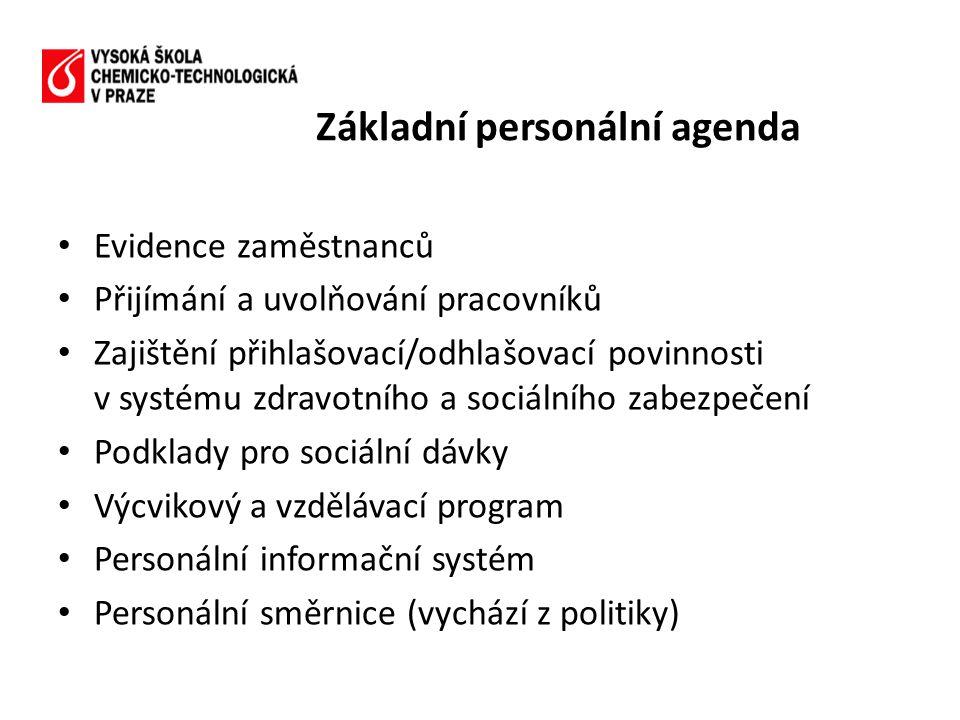 Základní personální agenda