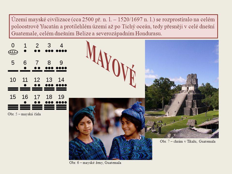 Území mayské civilizace (cca 2500 př. n. l. – 1520/1697 n. l