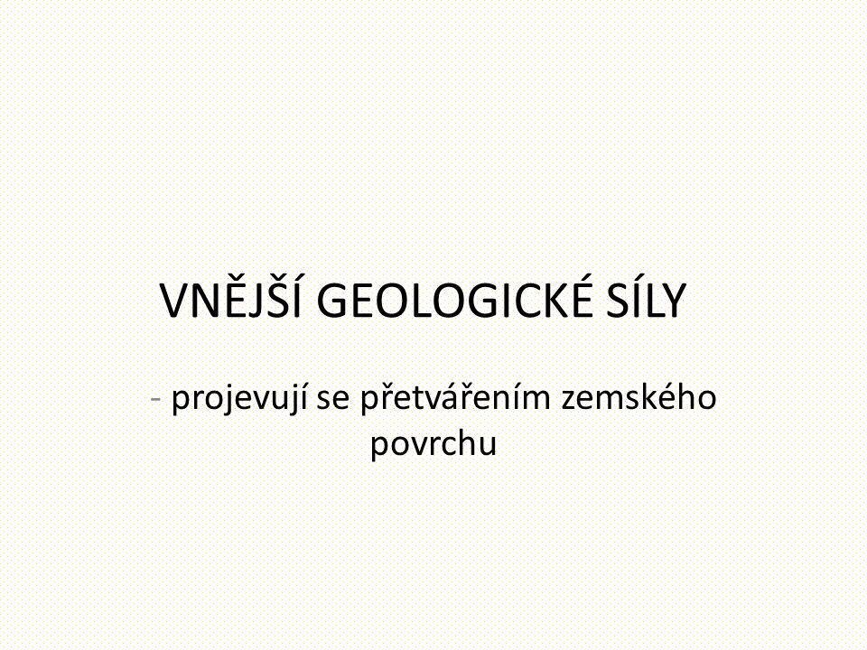 VNĚJŠÍ GEOLOGICKÉ SÍLY