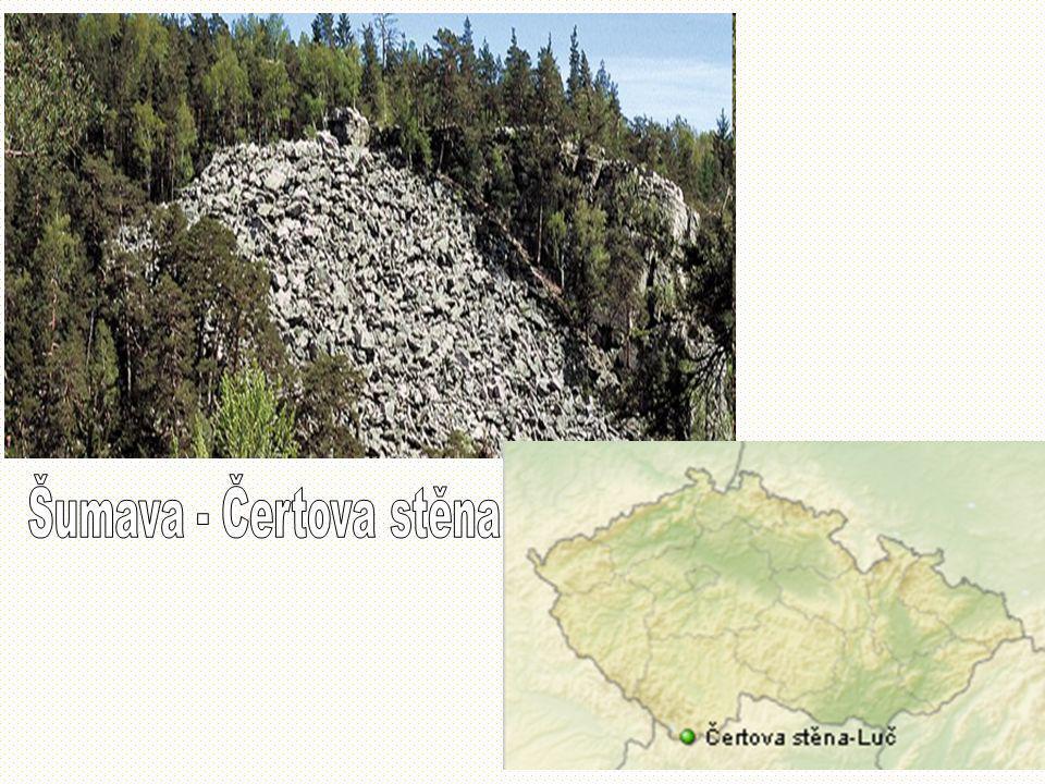 Šumava - Čertova stěna