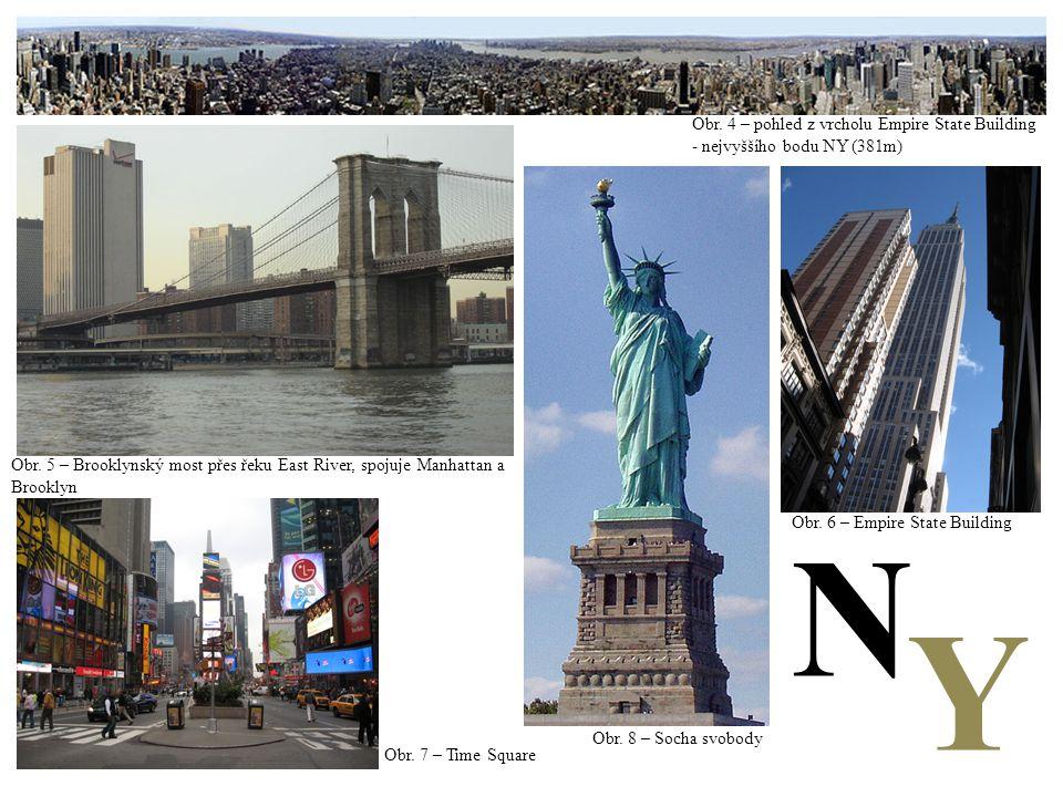 N Y Obr. 4 – pohled z vrcholu Empire State Building