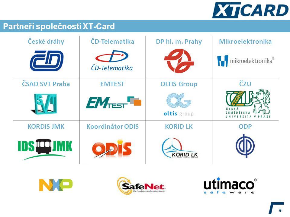 Partneři společnosti XT-Card