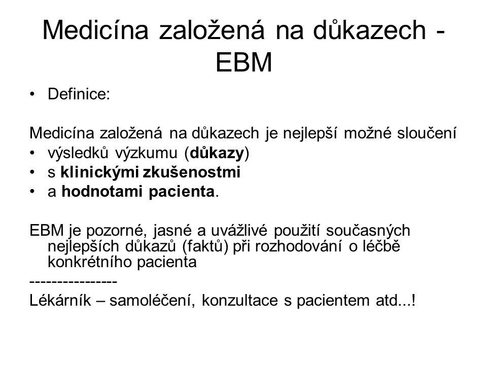 Medicína založená na důkazech - EBM