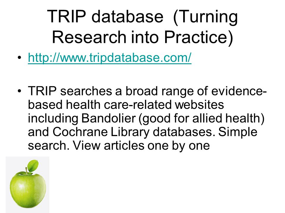 TRIP database (Turning Research into Practice)