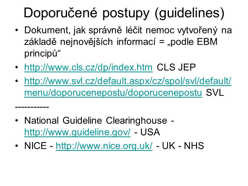 Doporučené postupy (guidelines)