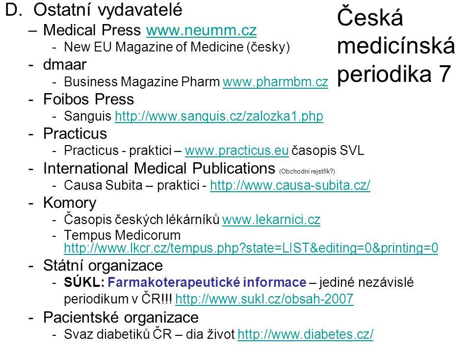 Česká medicínská periodika 7