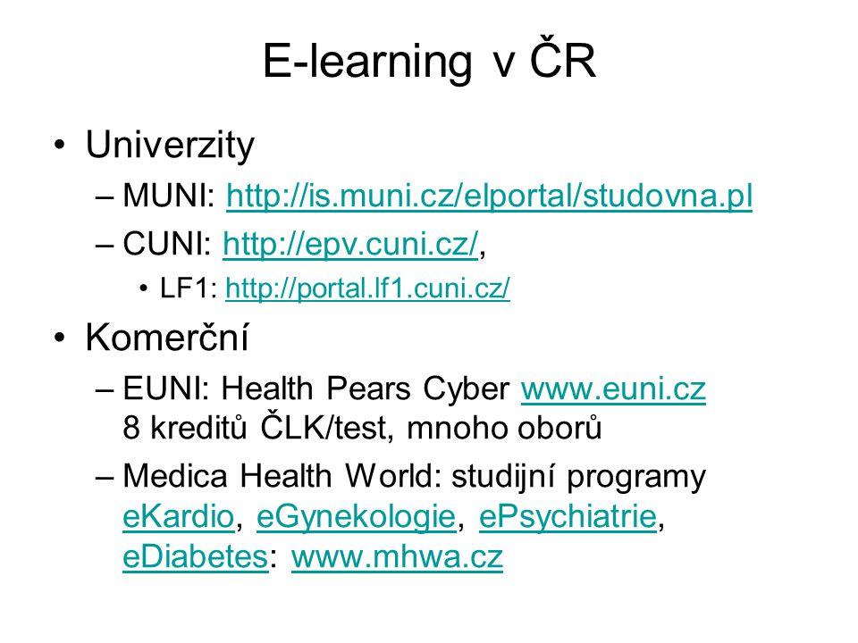 E-learning v ČR Univerzity Komerční