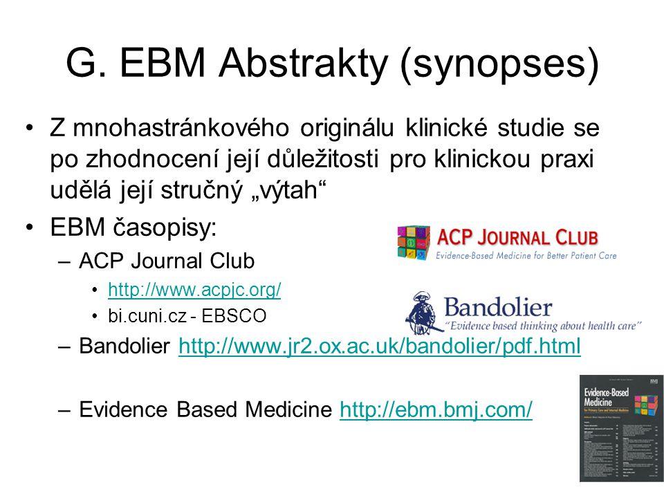 G. EBM Abstrakty (synopses)